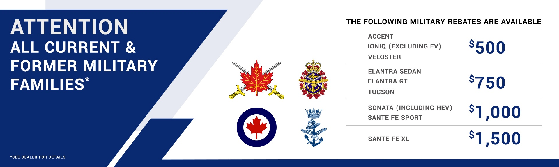 Military Rebates Kitchener Hyundai