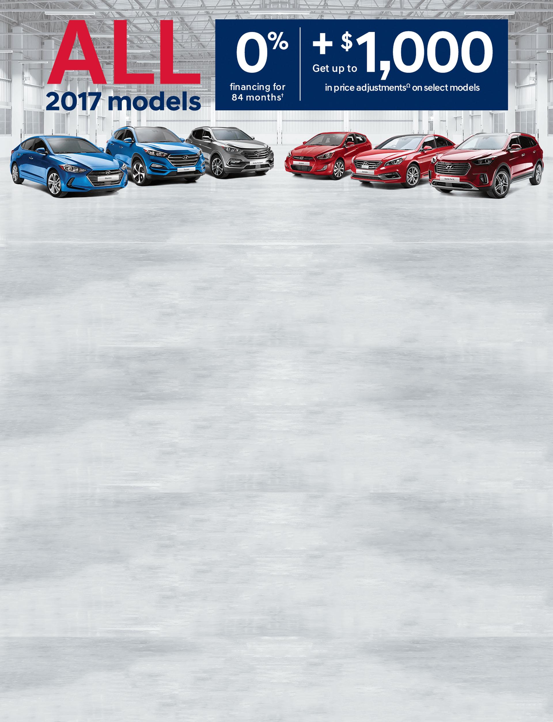 all 2017 modelss 0%
