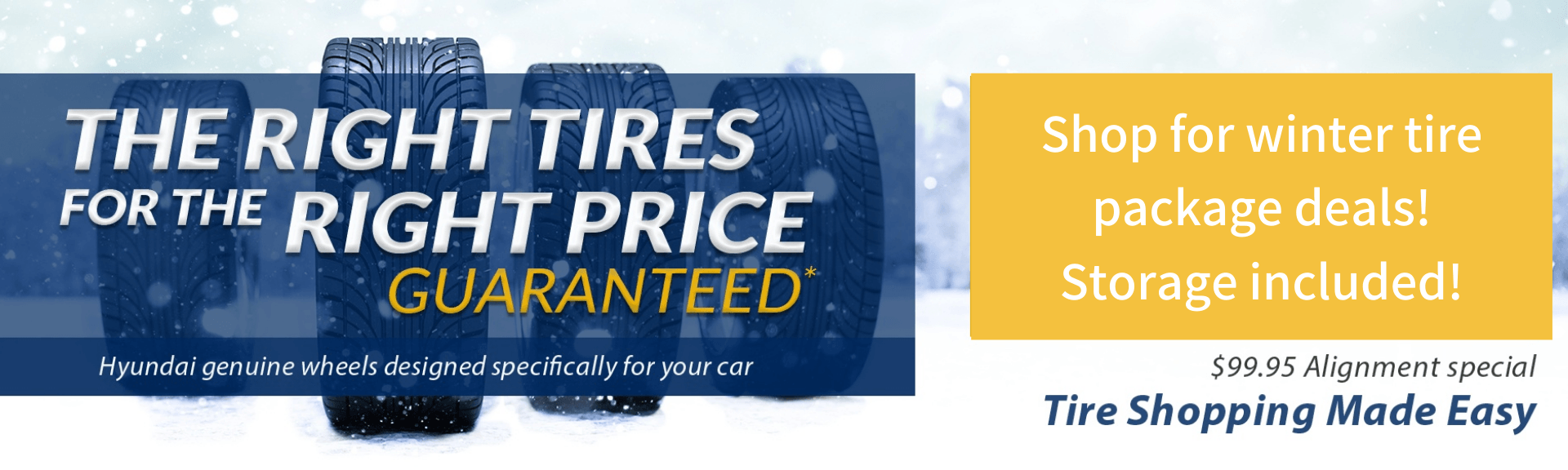 Shop for winter tire package deals! Storage included! (1)