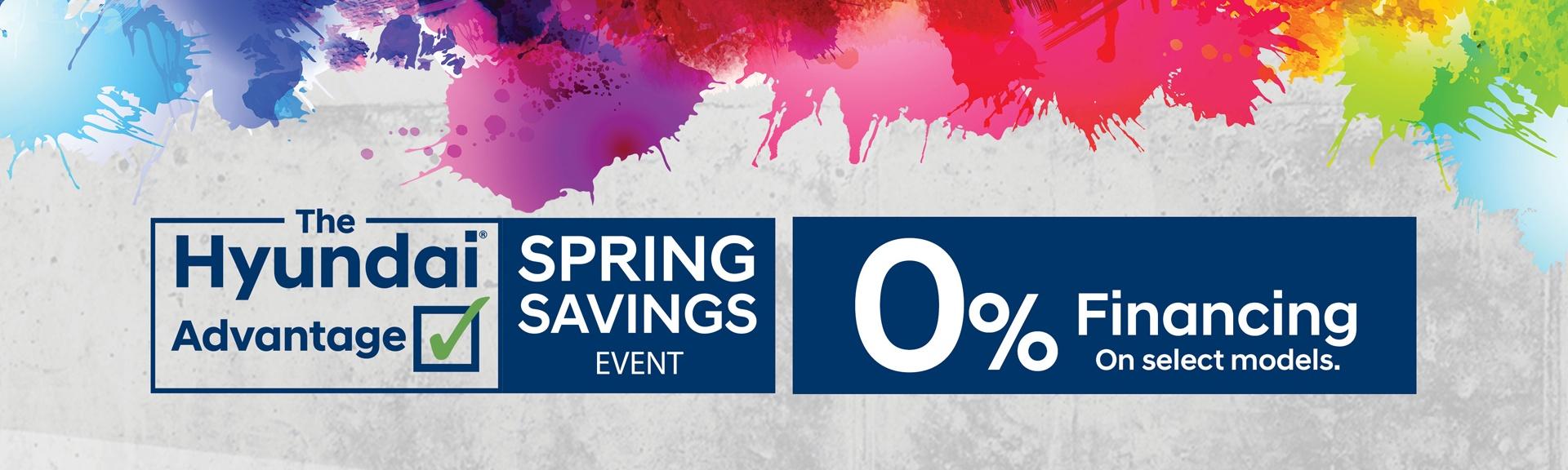 Spring Savings Event