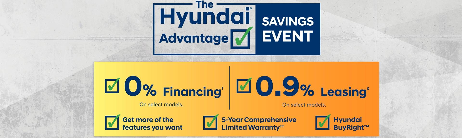 Hyundai Advantage Savings Event